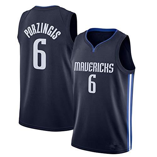 SWA # 6 Mavericks Porzingis Basketball Trikot Sportweste Herren Bequemer atmungsaktiver Sporttrainingsanzug S-2XL-XXL