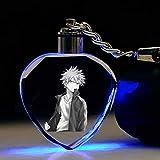cluis Anime My Hero Academia 7 couleur changeante en cristal porte-clés avec lumière LED porte-clés pendentif accessoires beau cadeau pour fans anime(Style 12)