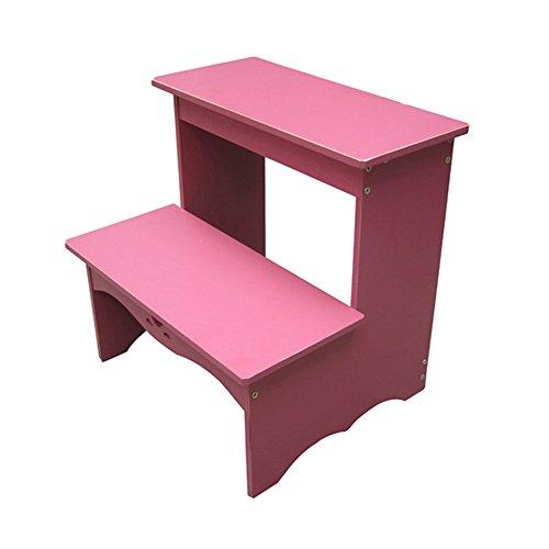 Alf Taburete Escalera Plegable Taburete para niños, Banco de Zapatos, bastidores, Taburete de Escalera Doble multifunción para el hogar. peldaños Escalera (Color : Pink)