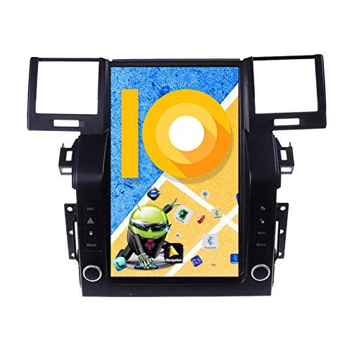 ZWNAV Pantalla Vertical de 10,4 Pulgadas Android 10.0 Radio de Coche para Land Rover Range Rover Sport L320 2009-2013 Navi Adaptador de navegación GPS Bluetooth WiFi Carplay (4 GB +64 GB, 2005-2009)