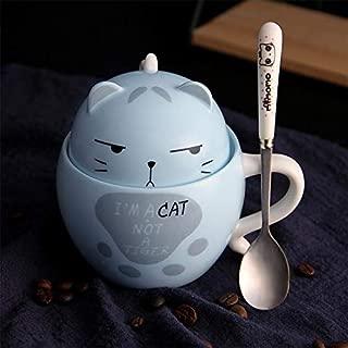 SUNNYHILL Creative Cute Cat Claw Cup Coffee Ceramic Mug Milk Mug Tea Whiskey Glass Cup (Blue)
