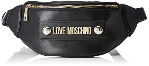 Love Moschino Damen Borsa Soft Grain Pu Kuriertasche, Schwarz (Nero), 7x13x22 Centimeters