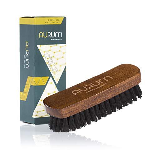 Aurum-Performance® Textilbürste & Lederbürste für die effektive Trocken- und Feuchtreinigung von Textilien sowie Glattleder - Polsterbürste & Teppichbürste (150x45mm)