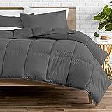 Bare Home Comforter Set - Twin/Twin Extra Long - Goose Down Alternative - Ultra-Soft - Premium 1800 Series - All Season Warmth (Twin/Twin XL, Grey)