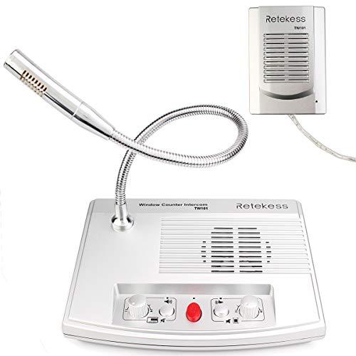 Retekess TW101 Intercomunicador de Ventana Sistema de