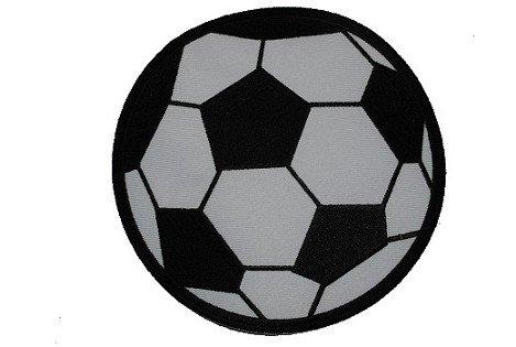alles-meine.de GmbH XXL - großer Fußball - 15 cm - Bügelbild / Aufnäher - Applikation Fussball Ball Tor Bälle - Fußbälle - Sport