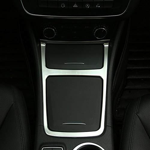 Cadre de cendrier de Garniture de boîte de Rangement en Plastique ABS chromé pour Centre intérieur pour CLA GLA Classe A W117 C117 W176 2013-2018 Argent Mat