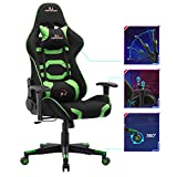 Mingwang Gaming Chair,Adjustable Adults Racing Video Game Chair,360° Swivel with Headrest and Massager