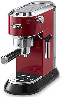 Delonghi EC680.R DEDICA 15-Bar Pump Espresso Machine Coffee Maker, Red, 220 Volts (Not for USA - European Cord)
