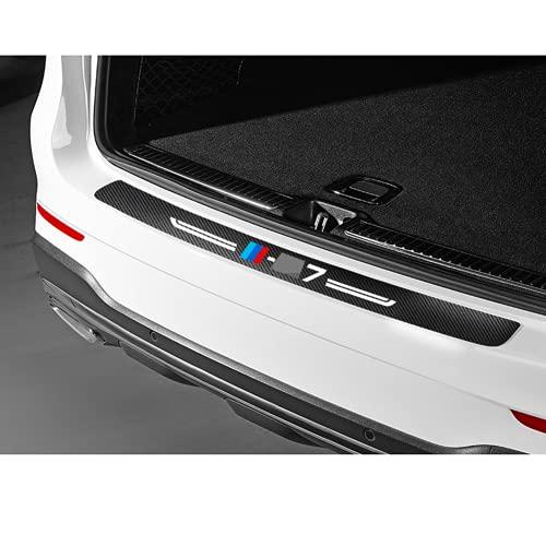 Ninuypoy Pegatina de protección del Maletero del Parachoques Trasero del Coche de Fibra de Carbono, para BMW X7 1 Uds Pegatinas Protectoras del Maletero del Coche