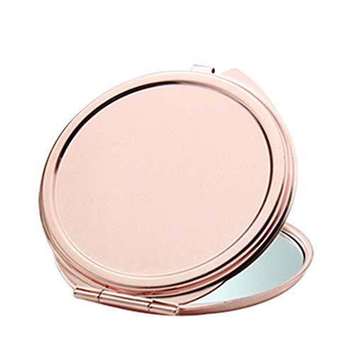 1pc Rose D'or Bourse Portable Miroir De Maquillage Miroir Compact Pliant Miroir De Poche Pour Voyager (forme Camping-oeuf)