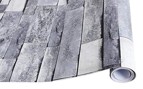 Aiovemc Papel Pintado de ladrillo Papel Pintado de Textura Artificial Papel Tapiz de Suelo de baño de Piedra