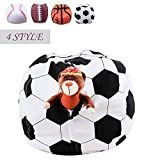Storage Bean Bag Chair Beanbag Cover 38 Inch Extra Large Animal Plush Organizer for Kids Stuffed Seat Storage Sack Soft Smooth Polyester Kid'S Room Originality,Football