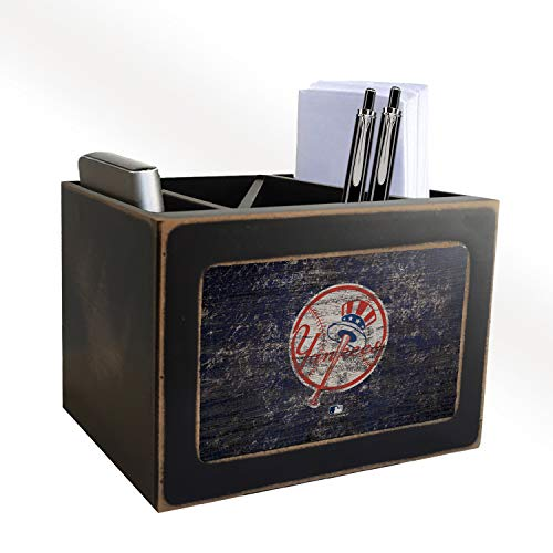 Fan Creations MLB New York Yankees Distressed Team Logo Desktop Organizer with Color