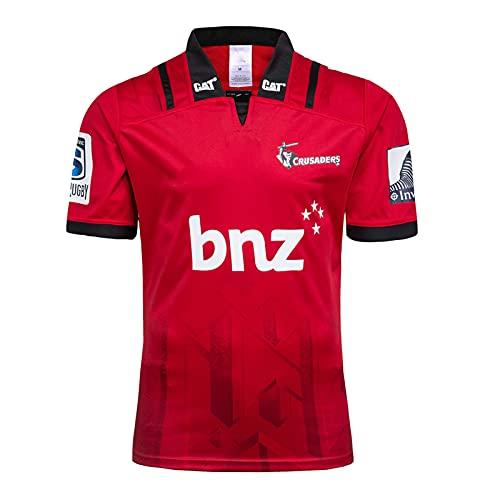 MEIBAO 2018 Crusaders Inicio/Away Rugby Jersey,Deportes De Verano Camiseta Casual Transpirable Camisa De Fútbol Camisa De Polo,Camisa De Entrenamiento Casual Al Aire Libre Red-XL