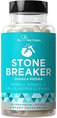 Stone Breaker Chanca Piedra – Natural Kidney Cleanse & Gallbladder Formula – Detoxify Urinary Tract, Flush Impurities, Clear System – Hydrangea & Celery Seed Extract – 60 Vegetarian Soft Capsules from Eu Natural