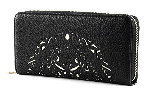 Desigual Mone Tribal Zip Around, Handbag para Mujer, Negro (Negro), 2x9.5x19 cm (B x H x T)