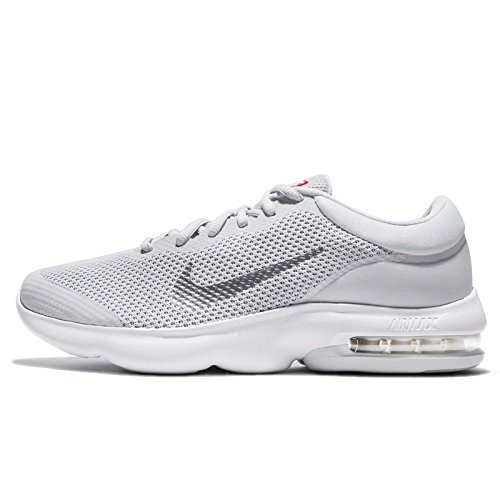 Nike Men's Air Max Advantage Pure Platinum/White Wolf Grey Ankle-High Running - 9.5M