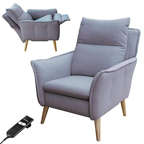 place to be. Relaxsessel mit Motor Fernsehsessel mit Liegefunktion und Schlaffunktion TV-Sessel Wohnzimmer Hellgrau Eiche massiv
