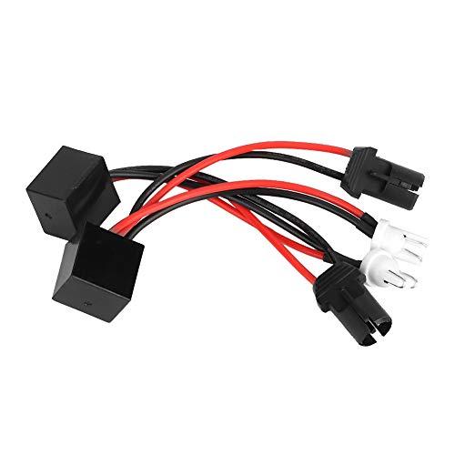 Decodificador LED, 2pcs T10 LED Canbus Decodificador de Faros Dispositivo Resistencias Antiparpadeo Cancelador de Errores