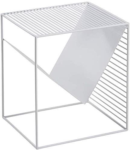 YLCJ salontafel klein vierkant klein nachtkastje ruimtebesparend (kleur: zwart) Wit