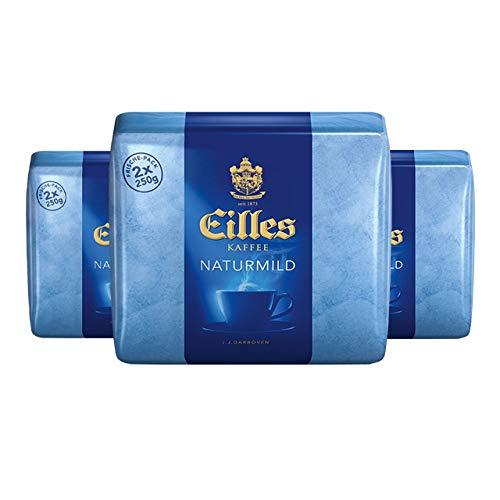 EILLES KAFFEE Naturmild 2 x 250 g gemahlen, 3er Pack