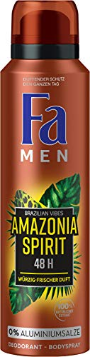 FA Deospray Men Brazilian Vibes Amazonia Spirit Würzig-frischer Duft, 1er Pack (1 x 150 ml)