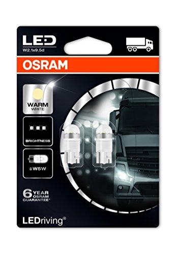 OSRAM 2824WW-02B LED Retrofit W5W 24V lumière intérieure Warm White 4000K, en double blister
