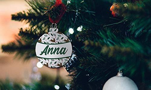 Bolas decorativas árbol de Navidad - Bolas en madera navideñas Personalizadas - Bolitas en madera Personalizadas Para Navidad- Adorno Personalizado Navidad- regalo navideño Personalizado