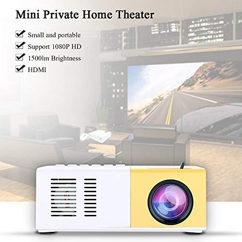 Vbestlife Mini Elegante Proyector LED Portátil 1080P Full HD 1500 Lume NS Compatible HDMI,VGA,AV, USB y Micro S D, Reproductor Multimedia para Sistema de Cine en Casa.(Blanco) miniatura