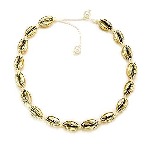MIMORE Muschel-Halskette für Frauen, Muschel-Halskette, Statement-Halskette, verstellbar,...