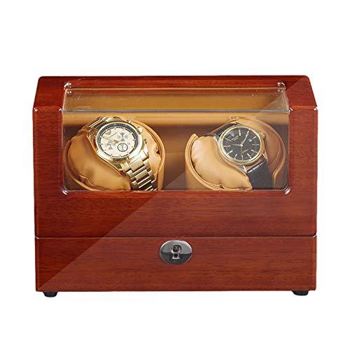 XYSQ Lujo Caja Relojes Automaticos con Motor Silencioso 5 Modos Diferentes Rotación Caja De Almacenamiento para Relojes O Joyeria Organizadora Y Exhibición Exhibición