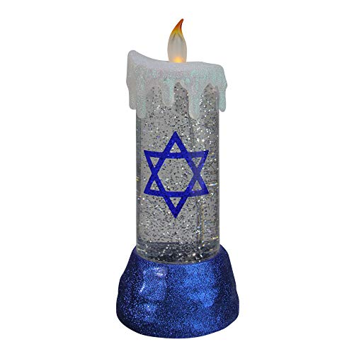 Melrose 13' Blue and White Battery Operated Star of David LED Hanukkah Candle