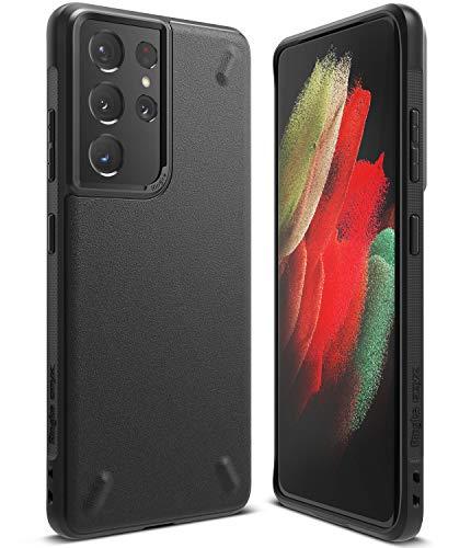 Ringke Onyx Compatible con Funda Samsung Galaxy S21 Ultra (6,8 Pulgadas), Carcasa Negra Parachoque TPU Resistente Impactos - Black (Negro)