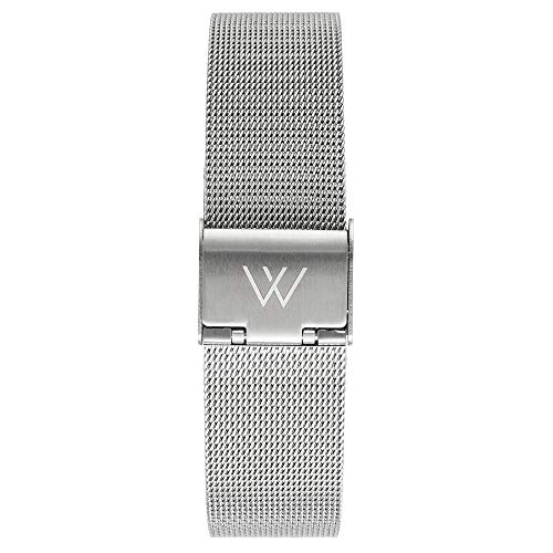 Wristology Silver Metal Mesh 16mm Watch Band - Quick Release Milanese...