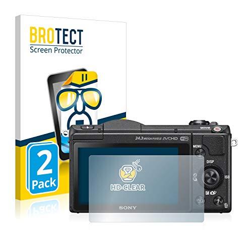 BROTECT Protector Pantalla Compatible con Sony Alpha 5100 (DSLR-A5100) Protector Transparente (2...