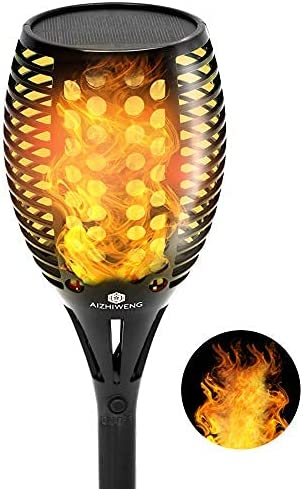 Rechargeable Solar Powered LED Flame Large Special price for a limited time discharge sale Outdoor o Lights Torch Set