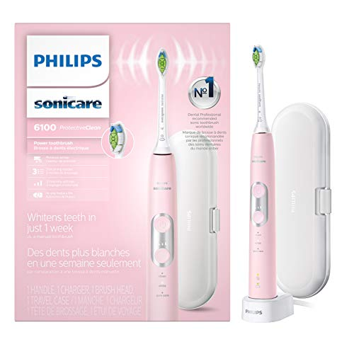 Philips Sonicare HX6876/21 ProtectiveClean 6100 Rechargeable Electric Toothbrush, Pink