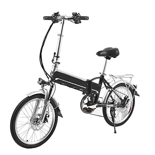 KT Mall Foldable Electric Bike 20 Inch 48v 8a Electric Bike Lithium Battery Aluminum Alloy 250w Powerful Electric Mountain/Snow/City Bike Led Bike Light Suspension Fork and Shimano Gear