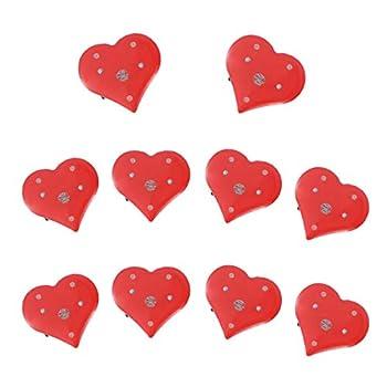 Amosfun heart pin light up heart binary heart -20pcs Love Heart Flashing Brooch Pins LED Brooch -Flashing Light Brooch for -Valentines Day Supplies  Red