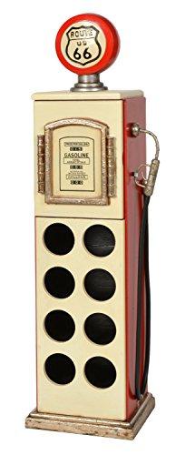 ts-ideen Retrolook Weinregal mit Fach Wein Aufbewahrung Retro Design beige in rot 107 x 24 cm