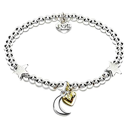 Rosey Rabbit - Love You To The Moon And Back Silver Plated Bracelet - Beautiful Gift For Her - Women's, Ladies, Girl's, Female Jewellery