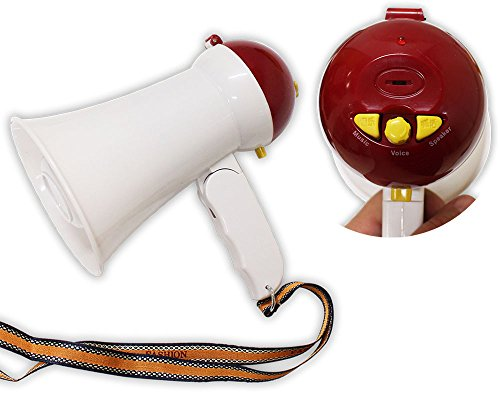 SCURRY 6 X 6 X 4 Inch Diameter Mini Megaphone With Music And Trumpet Sound - TC220