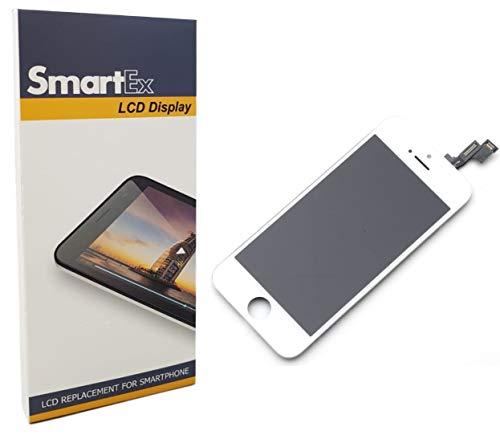 Smartex® NEW Display bianco compatibile con iPhone SE/Schermo LCD Retina e Vetro Touch Screen