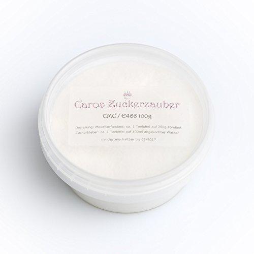 CMC | E466 | Carboxymethylcellulose | Sugarcel 100g | für essbaren Kleber | vegan | kosher | halal | sehr hohe Gelstärke / Viskosität von ca. 5700 cps