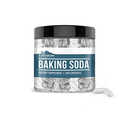 Baking Soda Capsules (200 Capsules, 1,740 mg/Serving) by Earthborn Elements, Sodium Bicarbonate...