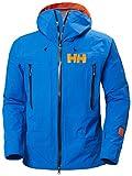 Helly-Hansen Mens SOGN Shell 2.0 Waterproof Ski Jacket, 639 Electric Blue, Large