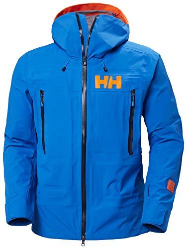 Helly-Hansen Mens SOGN Shell 2.0 Waterproof Ski Jacket, 639 Electric Blue, X-Large