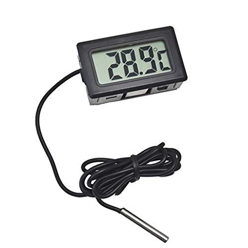 Mini elektronisches Thermometer für Innen- und Außentemperatur - Schwarz