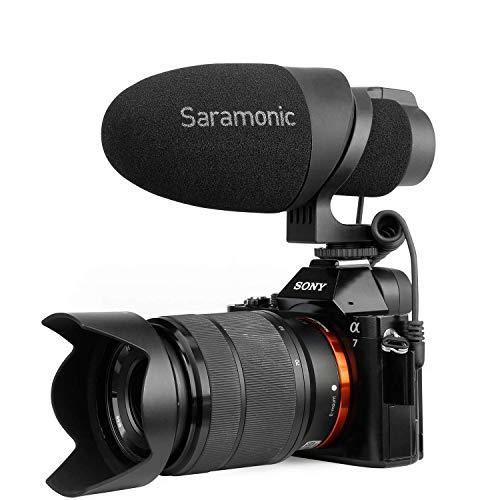 Saramonic CamMic Video Microfoon, Directionele Microfoon voor Smartphones, Canon EOS, Nikon DSLR camera's en camcorders, ontworpen voor reizen, interview, YouTube
